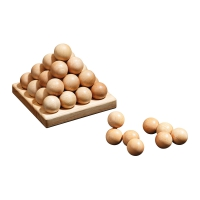 Sphere Pyramid - Level  2 - 9 puzzle pieces