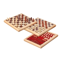 Chess-Checkers-Set - wooden box