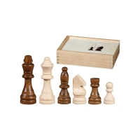 Schachfiguren - Otto I - KH 76 mm - chess pieces - birch