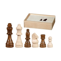 Schachfiguren - Otto I - KH 100 mm - chess pieces - birch