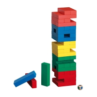 Tumbling Tower - colourful - Pine - colorful
