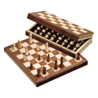 Chessgame - travel game - book - standard - 30 cm