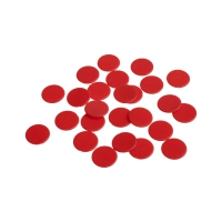 playing chips - gaming piece - 22 mm - red - mat