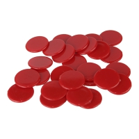 playing chips - gaming piece - 25 mm - red