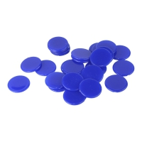 playing chips - gaming piece - 25 mm - blue