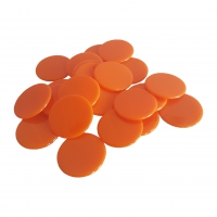 Spielchips - 25 mm - orange