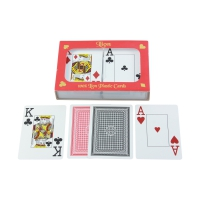 Playing Cards for Poker - Bridge - Canasta - Double Pack - 2x55 cards - plastic