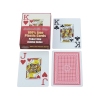 Playing cards 52 sheet + 3 Joker - Jumbo Index - Plastic