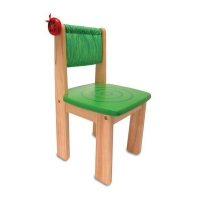 Childrens chair- ladybug - green - 310x310x570mm