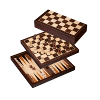 Chess-Backgammon-Checkers-Set - field 30 mm