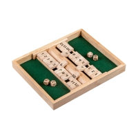 Shut The Box - 12er - for 1-2 player  - with dice