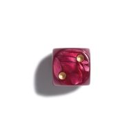 12 mm pearl - red - dice - 36er polybag