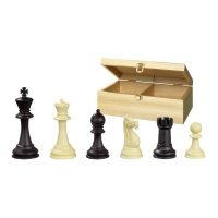 Schachfiguren - Nerva - recycelter Kunststoff - Staunton - Königshöhe 95 mm