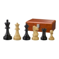 Chess figures - Hadrian - wooden - American Staunton - king size90 mm