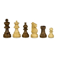 Chess figures - Napoleon - wooden - Franz. Lardy-Staunton - king size 65 mm
