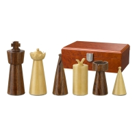 Chess figures - Galba - wooden - Modern Style - king size 90 mm