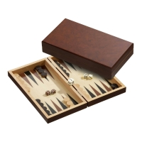 Backgammon - cassette - Silas - wood - small