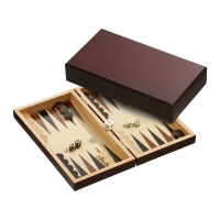 Backgammon - cassette - Stefanos - wood - small
