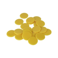 playing chips - gaming piece - 22 mm - yellow