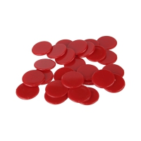 playing chips - gaming piece - 22 mm - red