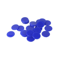 playing chips - gaming piece - 22 mm - blue