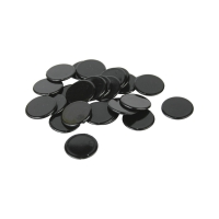 playing chips - gaming piece - 22 mm - black