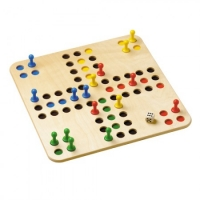 Trouble in the square - Ludo - wood - large