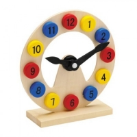 Learning clock - for kids - from wooden