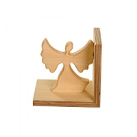 Bookend of oiled solid wood - Angel -