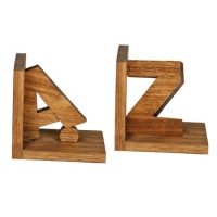 A-Z bookends made of wood