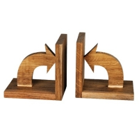 Arrow bookends made of wood