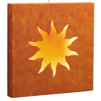 Wall lamp - lamp - sun - square - about 35 cm