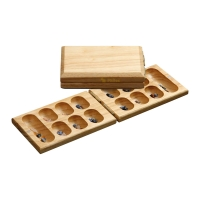 Mancala travel game - hevea-wood