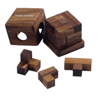 Somawürfel -  groß - 7 Puzzleteile - Denkspiel - Knobelspiel - Geduldspiel
