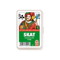 Skat Playing Cards - french face - Kunststoffetui