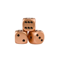 Dice (6) - metal - copper - 16 mm
