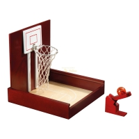 Mini Basketball - Table Game - hevea-wood - 245 x 245 x 255 mm