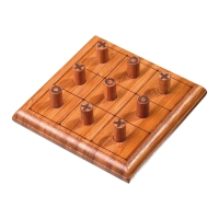 Tic Tac Toe - bamboo - 120 x 120 x 30 mm