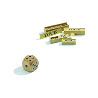 Wooden Dice - 5 pieces in box - maple - edge size 25 mm