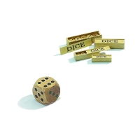 Wooden Dice - 5 pieces in box - maple - edge size 30 mm
