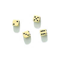 Dice - 16 mm - ivory-coloured - 100 pieces