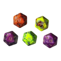 Dice - 20-sided - toxic - 50 pieces