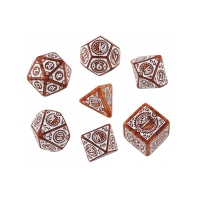 Steampunk Clockwork Caramel und white Dice Set - 7