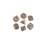 Steampunk Clockwork Beige und brown Dice Set - 7