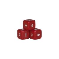 6-seitiger Würfel - Hexaeder - W6 - rot