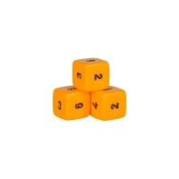 6-seitiger Würfel - Hexaeder - W6 - orange