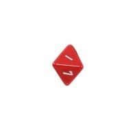 8-seitiger Würfel - Oktaeder - W8 - rot