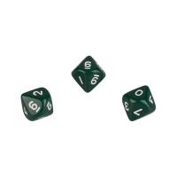 10-seitiger Würfel - Trapezoeder - W10 - 0-9 - grün
