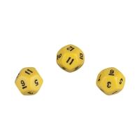 12-seitiger Würfel - Dodekaeder - W12 - gelb