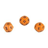 12-seitiger Würfel - Dodekaeder - W12 - orange